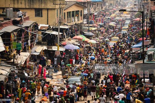 Market in Lagos Nigeria
